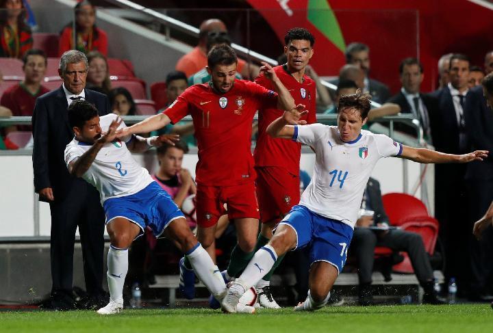 لیگ ملت های اروپا؛ ایتالیا صفر - پرتغال صفر ، صعود شاگردان سانتوس با تساوی برابر لاجوردی پوشان